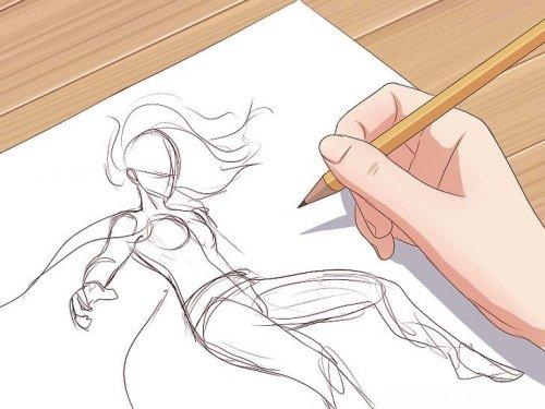 рисунок супергероя